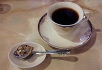 コーヒー飲んで…