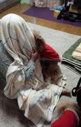 毛布被って3