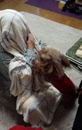 毛布被って5