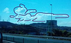 わんこ雲っぽい2