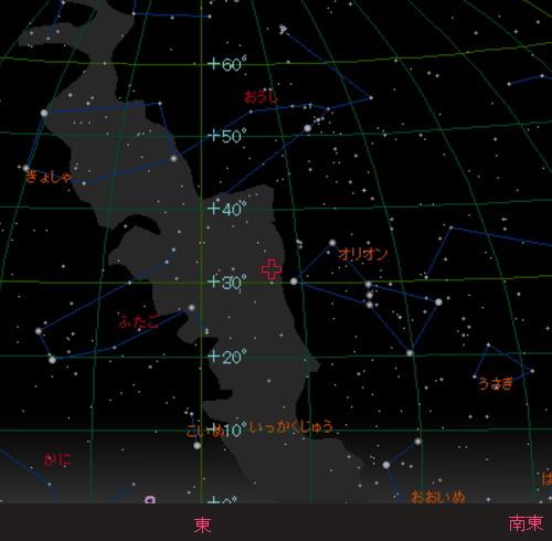 20141022 オリオン座流星群星図