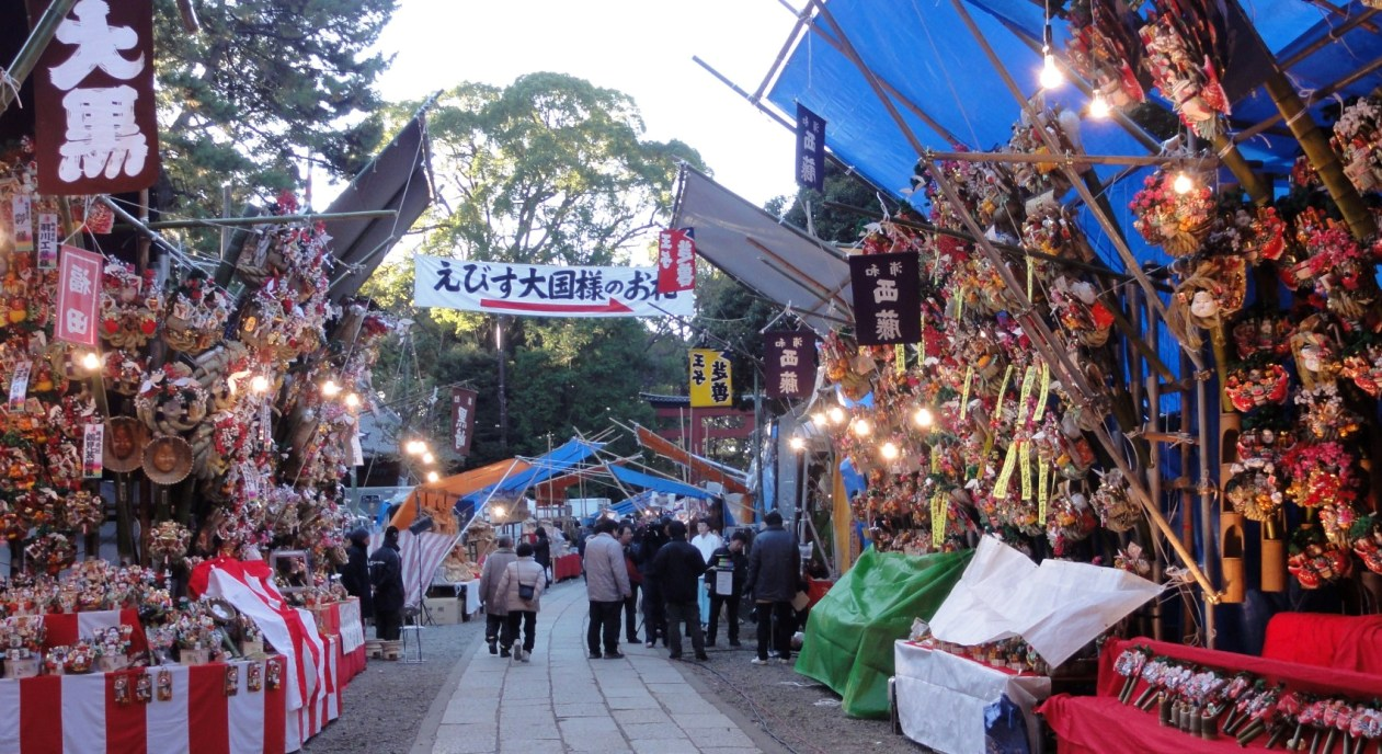 縁起物 熊手市風景 2012.12.10
