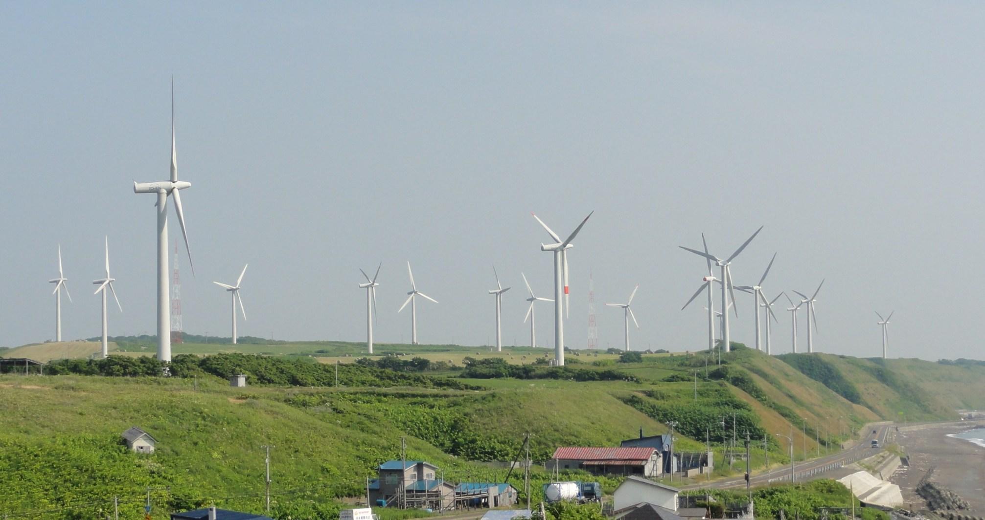 北海道苫前の風力発電