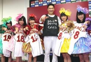 玉井詩織の打ったライナー性の打球を田中将大がナイスキャッチ FNS歌謡祭でももクロのステージを最前列で観覧