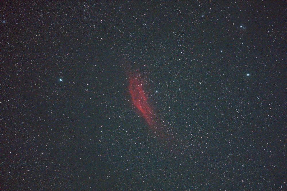 カリフォルニア星雲 ズームレンズ
