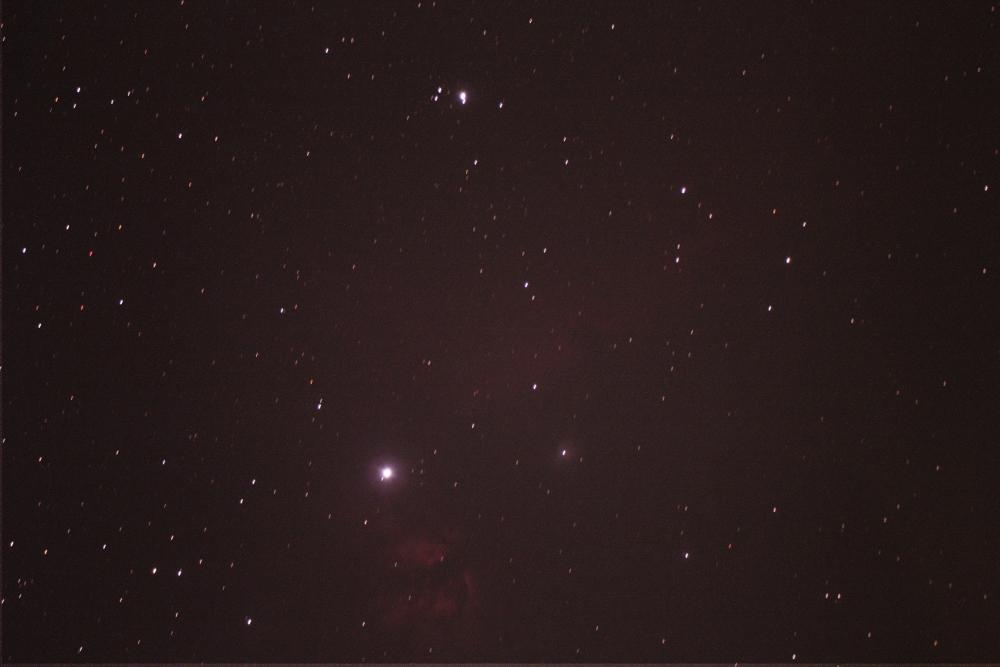 八つ裂き星雲と馬頭星雲