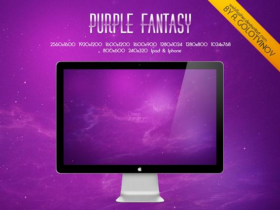 Ubuntu 壁紙 Purple Fantasy