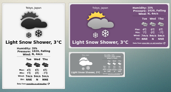 BBC Weather Desklet Ubuntu Cinnamon 天気ウィジェット