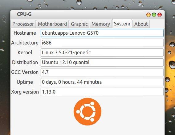 CPU-G Ubuntu システム情報