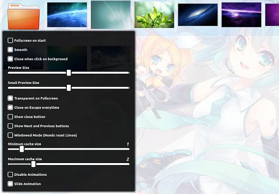 Limoo Ubuntu 画像ビューア オプション