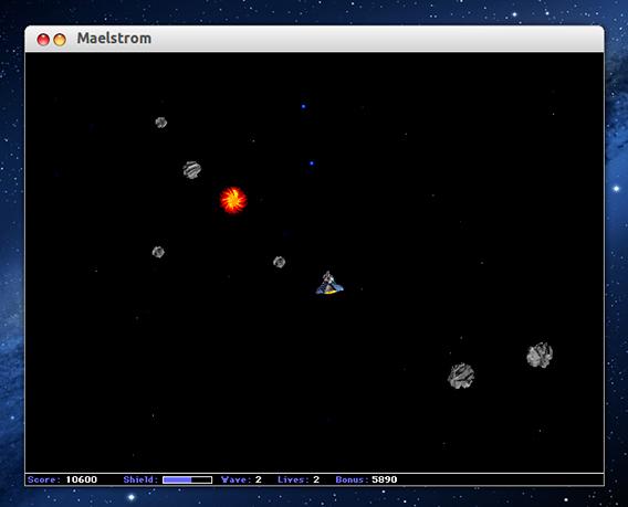 Maelstrom Ubuntu ゲーム