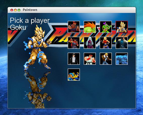Paintown Ubuntu ゲーム キャラクターの選択
