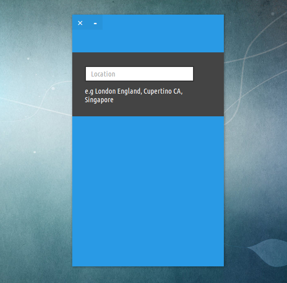 StormCloud Ubuntu 天気 ウィジェット 都市の設定