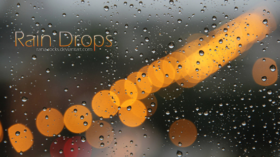 Ubuntu 壁紙 Rain Drops