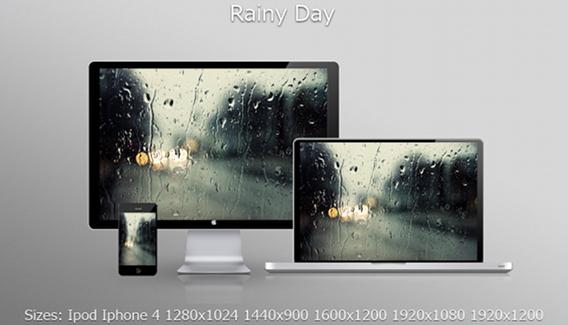 Ubuntu 壁紙 Rainy Day Wallpaper