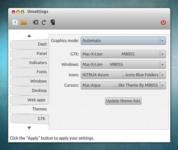 Unsettings Ubuntu Unity カスタマイズ