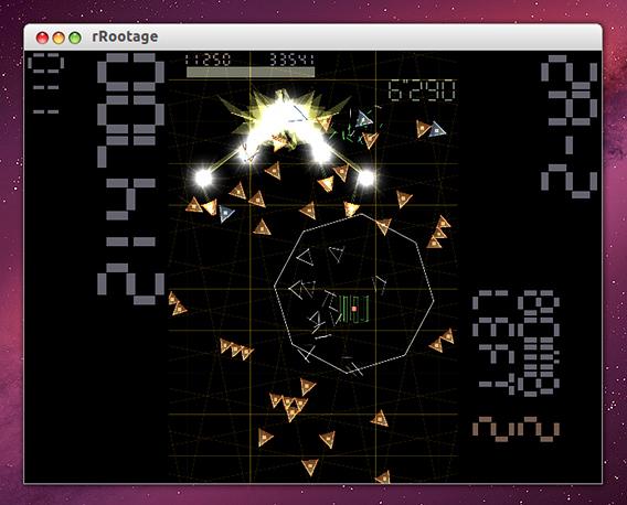 rRootage Ubuntu シューティングゲーム 遊び方