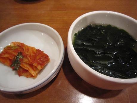 スープとキムチ