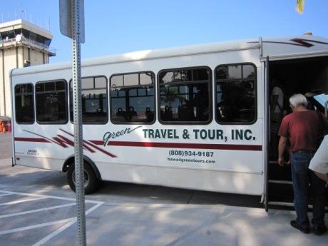 今日のツアーバス