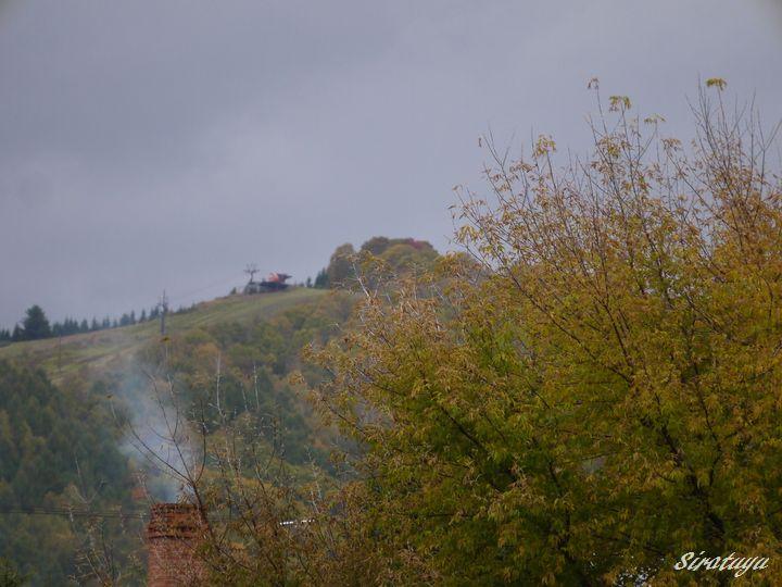 寒空と煙突