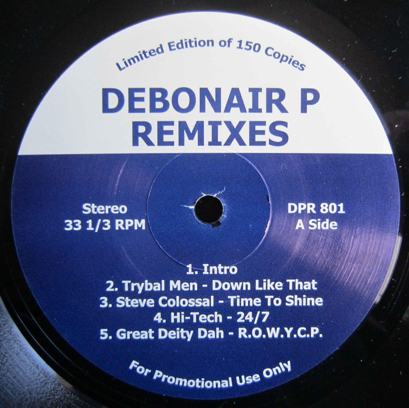 Debonair P - Remixes LP [Limited Vinyl]