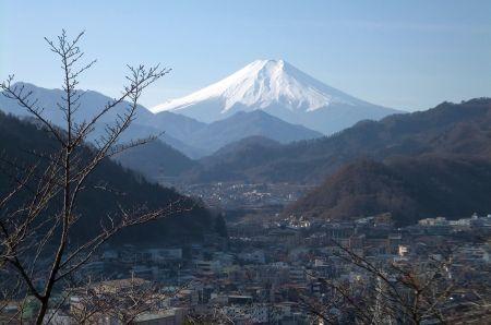 丸山公園より富士山
