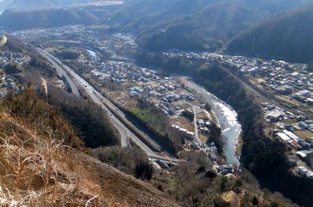 桂川と段丘