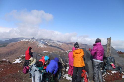新燃岳などの眺め