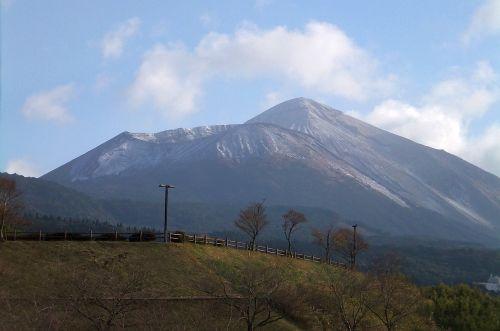 雪化粧した高千穂峰
