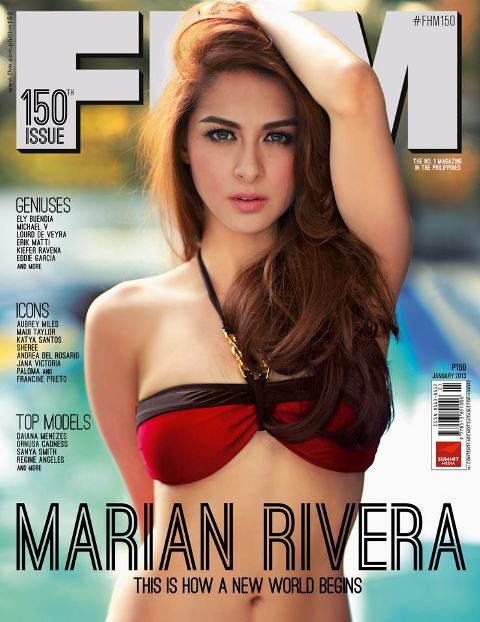 Marian Rivera FHM January 2013 Cover