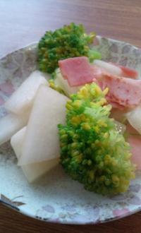 冬瓜とベーコンの炒め物