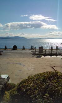 白ひげ神社からの 琵琶湖