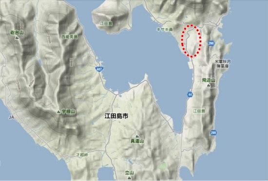 2)江田島町南部・中央地区