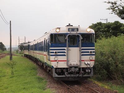 新津行き入線