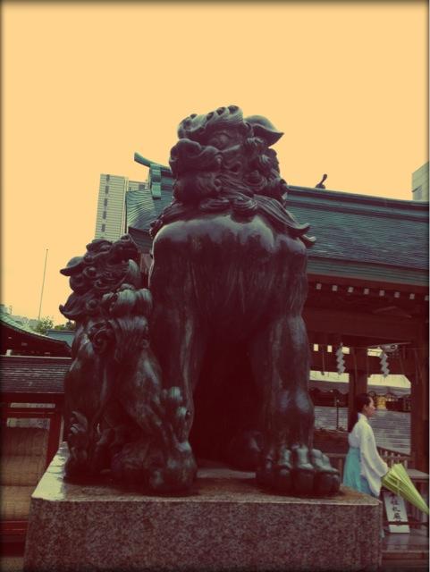 水天宮の狛犬。