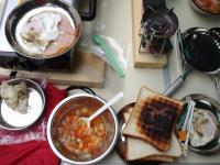 川で料理2