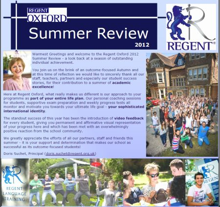regent oxford summer 2012