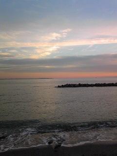 野比海岸の夕陽