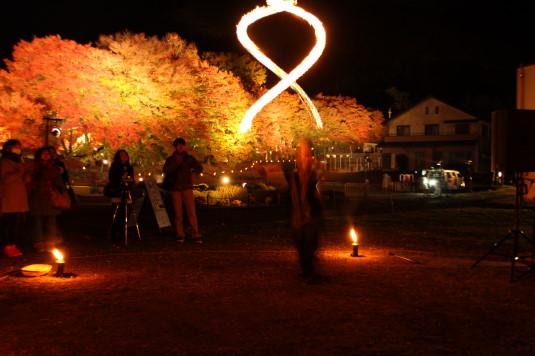 紅葉 もみじ回廊 ライトアップ 和火&もみじ