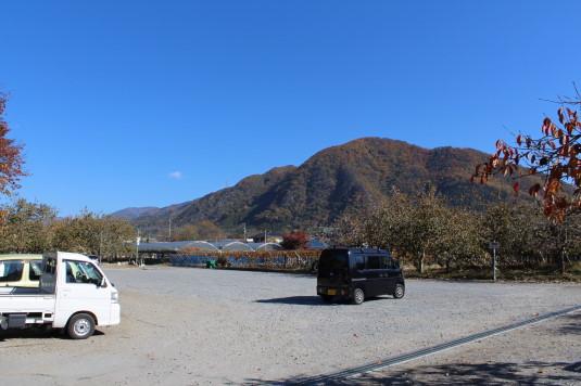 紅葉 恵林寺 駐車場