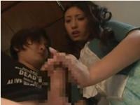 【手コキ】義弟を誘惑し手コキ・太股コキ射精する発情した人妻