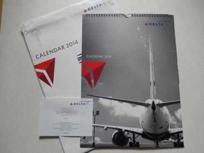 デルタ航空2014年カレンダー