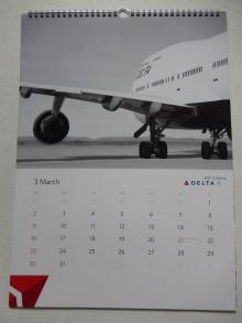デルタ航空2014年カレンダー3月