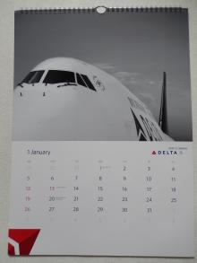 デルタ航空2014年カレンダー1月