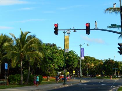 ハワイ2014.9カラカウア大通り
