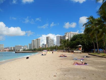 ハワイ2014.9ワイキキビーチ