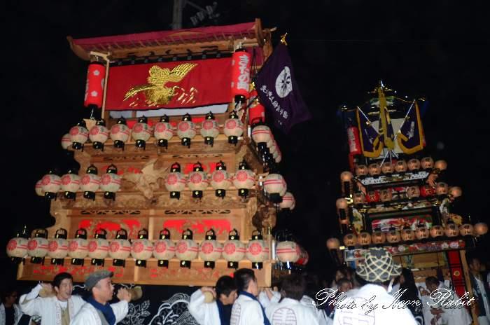 楢本祭(楢本神社祭り) 北之町上組だんじり(北の町上組屋台・楽車) 西条祭り2011