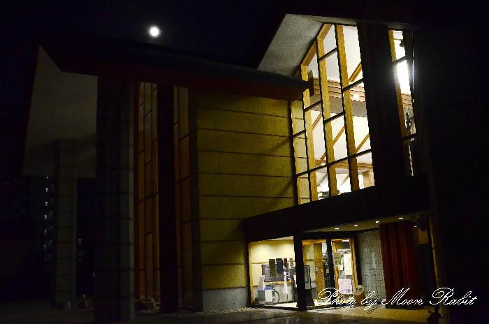 西条市 西条図書館の夜 愛媛県西条市大町1590