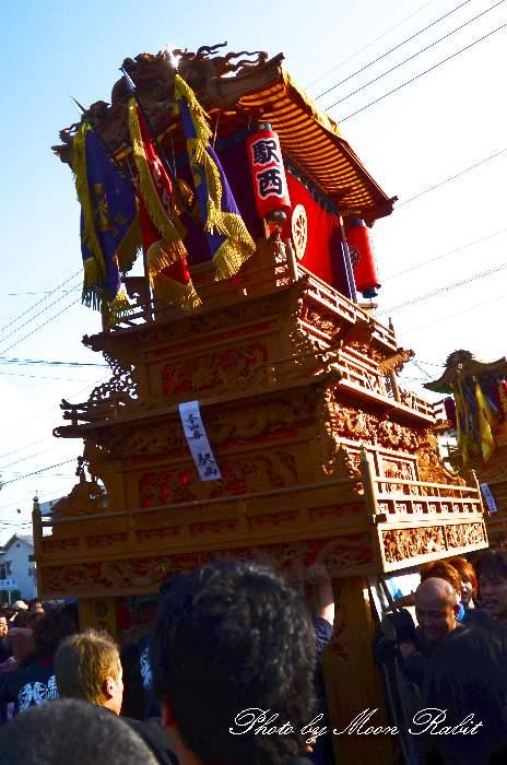 西条祭り2011 御殿前 駅西だんじり(駅前西大通り屋台・楽車) 伊曽乃神社祭礼
