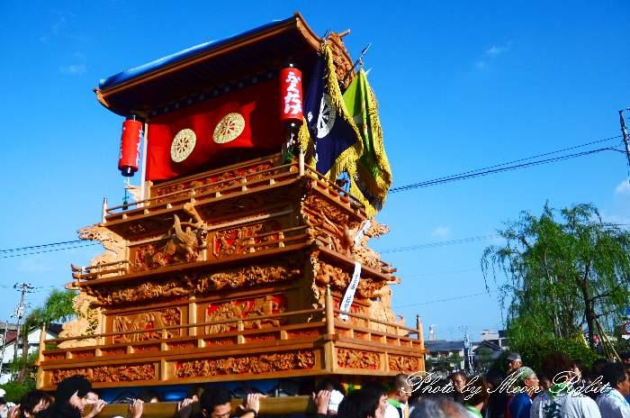 西条祭り2011 御殿前 若葉町だんじり(屋台・楽車) 伊曽乃神社祭礼
